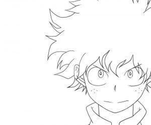 Buko no Hero - Minha Academia de Heróis desenhos para colorir imprimir e pintar de Deku
