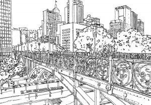 Aniversário da cidade de São Paulo - desenhos para colorir imprimir e pintar
