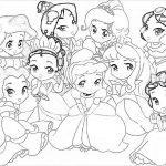 Princesas Kawaii desenhos para colorir imprimir e pintar