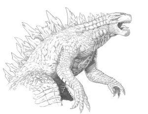 Godzilla desenhos para colorir imprimir e pintar