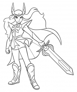 She-ra e as princesas do poder, desenhos para colorir imprimir e pintar