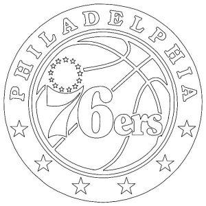 Philadelphia 76ers NBA logo desenhos para colorir imprimir e pintar